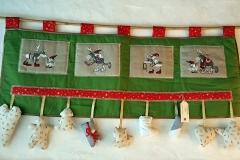 Weihnachtliche Deko in der Adventsstube